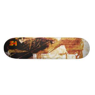 LadyLove orange Custom Skate Board