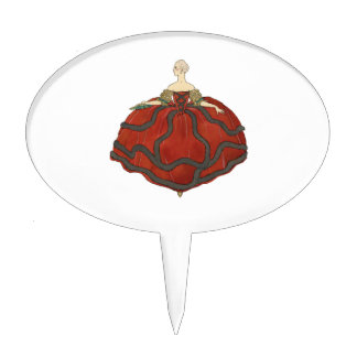 Lady's Ball Gown Cake Topper
