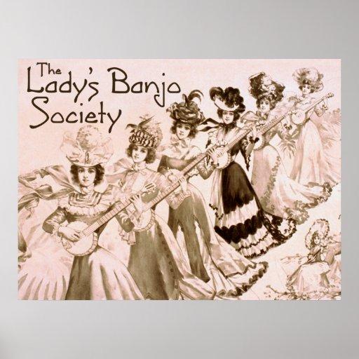 Lady's Banjo Society Poster