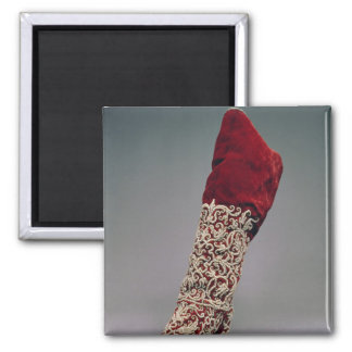 Lady's boot, 1650-1700 2 inch square magnet