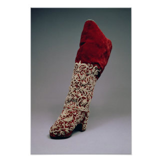 Lady's boot, 1650-1700 poster