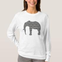 Lady's Damask Elephant Pattern Top