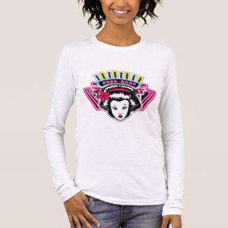Lady's long sleeve T shirt pink