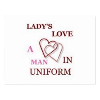 Ladys Love A Man In Uniform Postcard