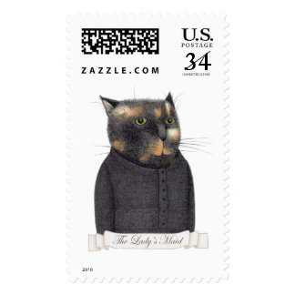 Lady's Maid Cat Large Postcard Stamps