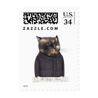 Lady's Maid Cat Small Postcard Stamps