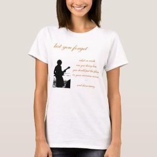 Lady's Silhouette w/Lyrics T-Shirt