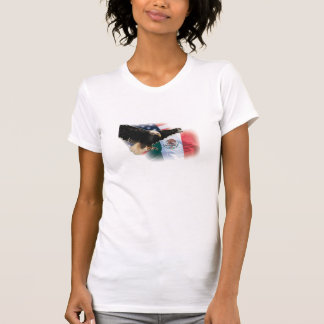 Lady's Sleeveless T Shirt with Eagle and Flag