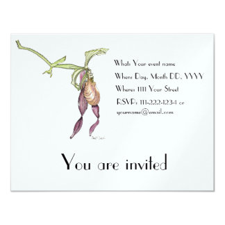 Lady's Slipper Orchid (Cypripedium) Invitation