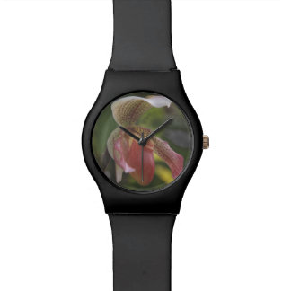 Lady's Slipper Orchid Wrist Watch