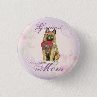 Laekenois Heart Mom Pinback Button