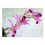 """Laelia orchid 5"""" x 7"""" invitation card"""