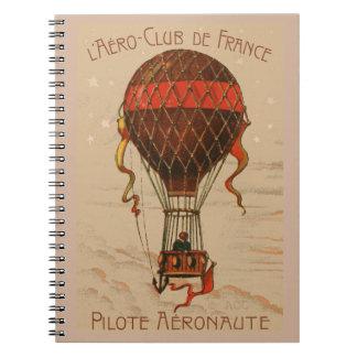 L'Aero-Club de France Hot Air Balloon Notebook