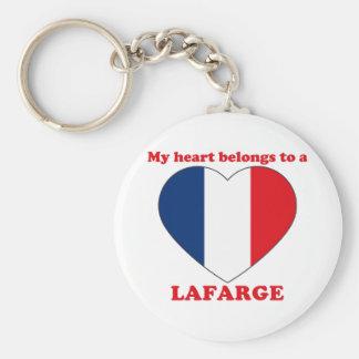 Lafarge Basic Round Button Keychain