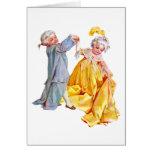 Lafayette baila el minué tarjeta de felicitación