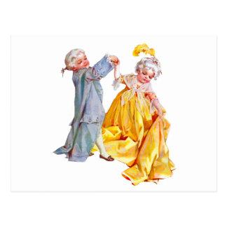Lafayette baila el minué postales