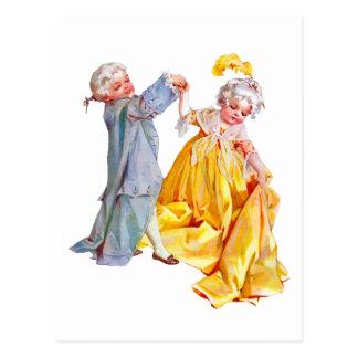 Lafayette baila el minué tarjeta postal