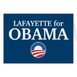 LAFAYETTE for Obama custom your city personalized Cards