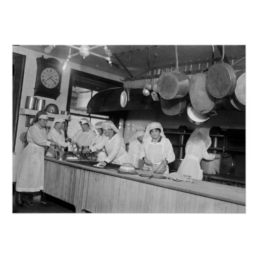 Lafayette Hotel Kitchen, early 1900s Poster