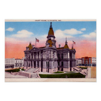Lafayette Indiana Court House Poster