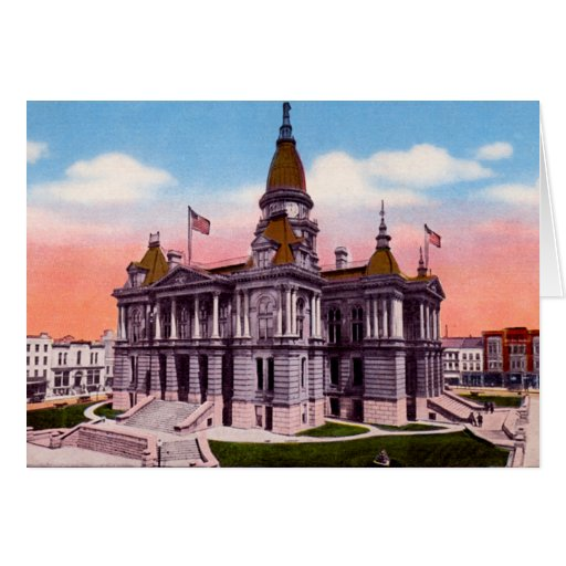 Lafayette Indiana Courthouse Greeting Card