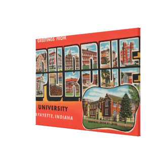 Lafayette, Indiana - Purdue University Canvas Print