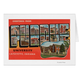 Lafayette, Indiana - Purdue University Greeting Card