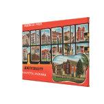 Lafayette, Indiana - universidad de Purdue Impresiones En Lienzo Estiradas
