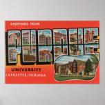 Lafayette, Indiana - universidad de Purdue Póster