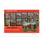 Lafayette, Indiana - universidad de Purdue Tarjetas Postales