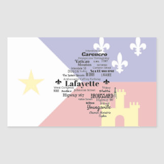 Lafayette Parish Cities and Places Stickers