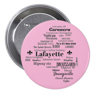 Lafayette Parish Louisiana Cities & Streets Pin