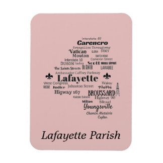 Lafayette Parish Louisiana Places Magnet