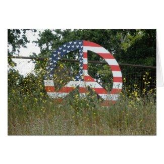 Lafayette Peace Symbol card