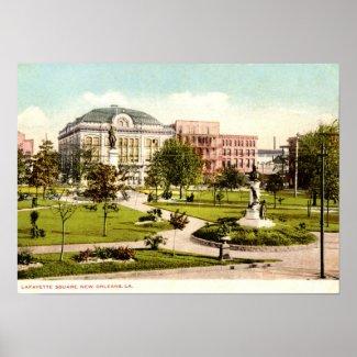 Lafayette Square, New Orleans 1907 Vintage print