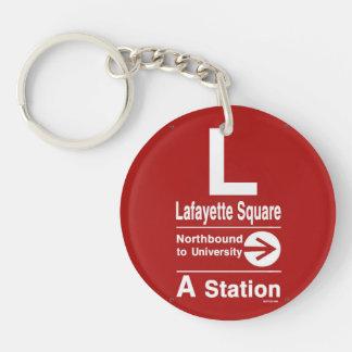 Lafayette Square Northbound Acrylic Keychains