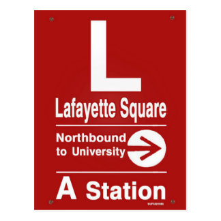 Lafayette Square Northbound Postcard