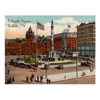 Lafayette Square Vintage Buffalo Postcard