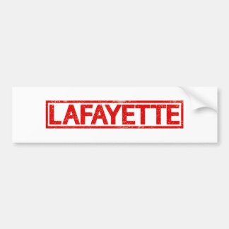 Lafayette Stamp Bumper Sticker