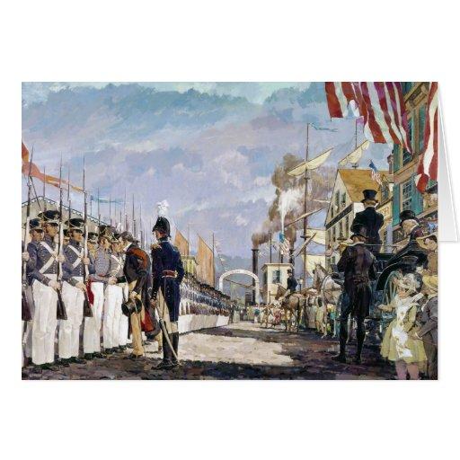 Lafayette y el Guardia Nacional de Ken Riley Tarjeta De Felicitación