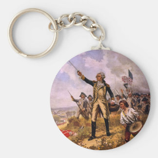 Lafayette's Baptism of Fire by E. Percy Moran Keychain