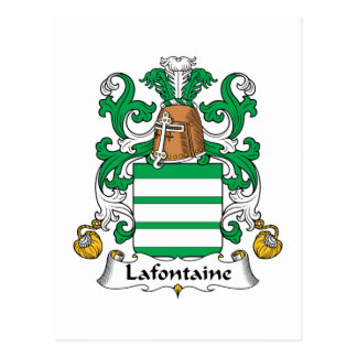 Lafontaine Family Crest Postcard