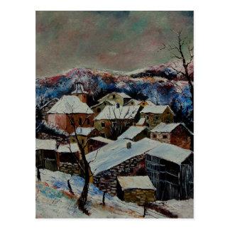 Laforet neige 78 postcard