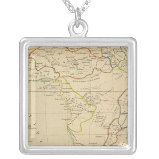 L'Afrique en 1840 Silver Plated Necklace