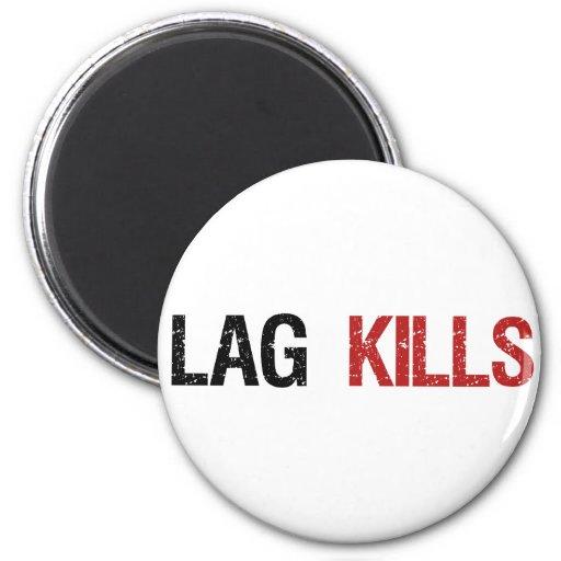 Lag Kills Gamers 2 Inch Round Magnet