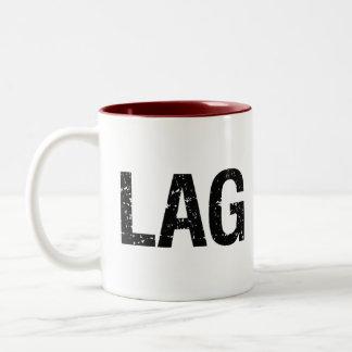 Lag Kills Gamers Two-Tone Coffee Mug