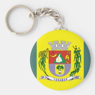 Lagamar Minasgerais Brasil, Brazil flag Key Chain