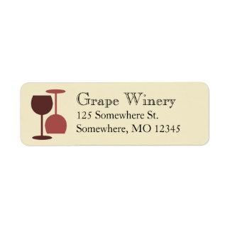 Lagar/bar de vinos de etiquetas etiquetas de remite