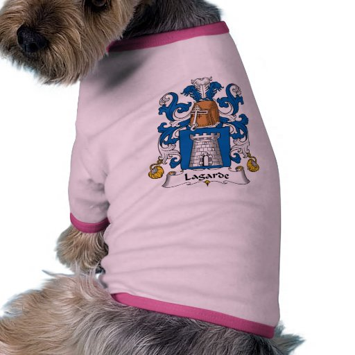 Lagarde Family Crest Dog Tshirt