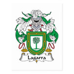 Lagarra Family Crest Postcard